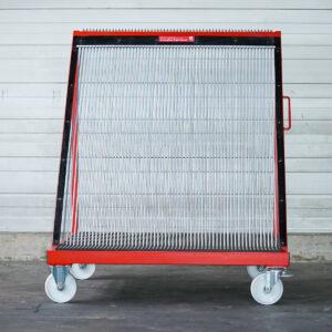 Glas-Fächerwagen FW60 mit Gleitplatte Vorderansicht