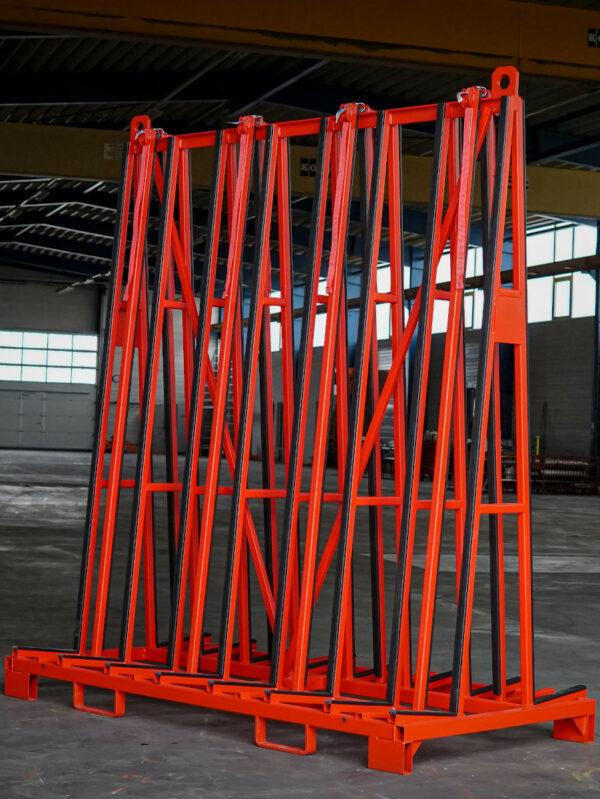 Big Bull A200 Glas-Transportgestell Schrägansicht